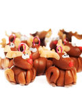 Polymer clay reindeers, christmas decoration Stock Photos