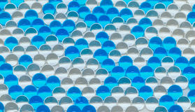 Polymer gel. Gel balls. balls of blue and transparent hydrogel, Royalty Free Stock Image