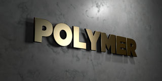 Polymer - Gold sign mounted on glossy marble wall - 3D rendered royalty free stock illustration. This image can be used for an online website banner ad or a Royalty Free Illustration