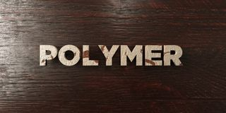 Polymer - grungy wooden headline on Maple  - 3D rendered royalty free stock image Stock Image