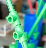 Polymer pipes and fittings Stock Image