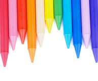 Polymeric Crayons Royalty Free Stock Photography