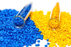 Polymeric dye. Colorant for the granules. Plastic pellets. stock image