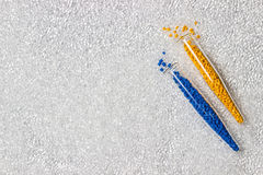 Polymeric dye. Colorant for plastics. Pigment in the granules. Stock Photos