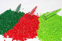 Polymeric dye. Colorant for plastics. Pigment in the granules. Polymeric dye. Plastic pellets. Colorant for plastics. Pigment in the granules Stock Photography