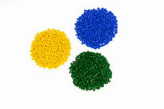 Polymeric dye. Colorant for plastics. Pigment in the granules. Polymeric dye. Plastic pellets. Colorant for plastics. Pigment in the granules Royalty Free Stock Images