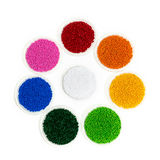 Polymeric dye. Colorant for plastics. Pigment in the granules. Polymeric dye. Plastic pellets. Colorant for plastics. Pigment in the granules Royalty Free Stock Image