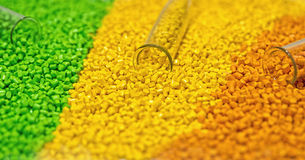 Polymeric dye. Colorant for plastics. Pigment in the granules. Stock Photography