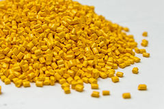 Polymeric dye. Colorant for plastics. Pigment in the granules. Stock Image