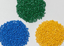 Polymeric dye. Colorant for plastics. Pigment in the granules. Royalty Free Stock Photography