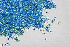 Polymeric dye. Plastic pellets. Colorant for  the granules.  Polymer beads Stock Photography