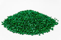 Polymeric dye. Plastic pellets. Pigment in the granules. Royalty Free Stock Photos