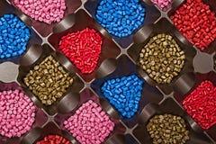 Polymeric färg Colorant för plast- Pigment i partiklarna arkivbilder