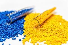 Polymeric färg Colorant för plast- Pigment i partiklarna arkivfoton