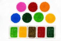 Polymeric färg Colorant för plast- Pigment i partiklarna royaltyfria bilder