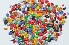 polymern regrind royaltyfri fotografi