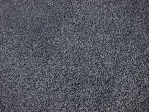 Polymers obtained from scraps. Polymers of gray color obtained from processing waste Stock Photo