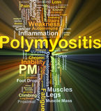 Polymyositis PM background concept glowing Stock Images