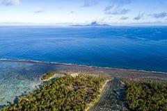 Polynésie française aérien paysage de Bora Bora de Taha photographie stock