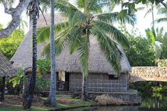 Polyneisian house. Small Polynesian house. Picture was taking at the Polynesian Culture Center, Hawaii Stock Image