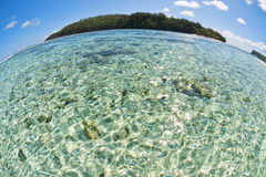 Polynesia Paradise Crystal Water Poster Royalty Free Stock Images