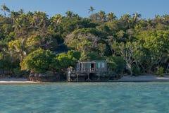 Polynesia Paradise Crystal Water white sandy beach Royalty Free Stock Photo