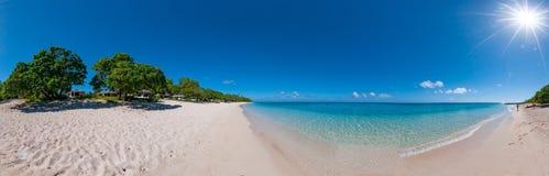 Polynesia raju kryształu wody krajobraz zdjęcia stock