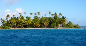 Polynesian Atoll 2. Spectacular little Island view in Polinesia Stock Photography