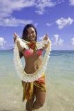 Polynesian beauty at the beach Royalty Free Stock Photo