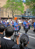 Polynesian brass marching band RWC 2011 Champions Parade Stock Images