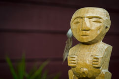 Polynesian carving Royalty Free Stock Photography