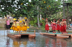 Polynesian Cultural Center in Oahu, Hawaii Royalty Free Stock Image