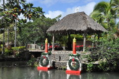Polynesian Cultural Center in Oahu, Hawaii Stock Image