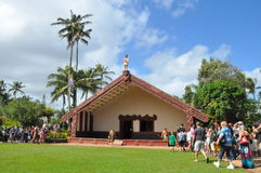 Polynesian Cultural Center in Oahu, Hawaii Stock Photography