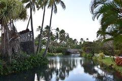 The Polynesian Cultural Centre. Hawaii, Oahu Island Royalty Free Stock Photo