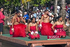 Polynesian dancers Royalty Free Stock Image