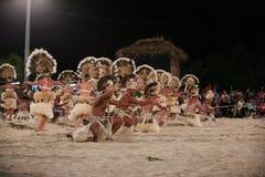 Polynesian Dancers - 2013 Heiva in Bora Bora royalty free stock photo