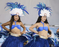 Polynesian dancers Royalty Free Stock Images