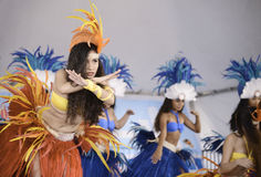 Polynesian dancers Royalty Free Stock Photos