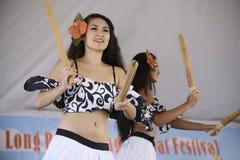 Polynesian dancers Royalty Free Stock Photo