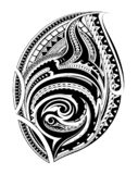 Polynesian ethnic style tattoo stock photography