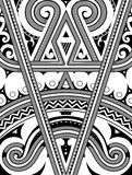 Polynesian ornament with ethnic elements. Polynesian ethnic style ornament. Good for T-shirt print designs Royalty Free Stock Photography