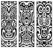 Polynesian ethnic style ornaments. Maori ethnic ornaments set including koru and kowhaiwhai elements. Good for male and female tribal tattoo ink and for elegant Royalty Free Stock Images