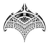 Polynesian etnisk stiltatuering för bicepområde stock illustrationer