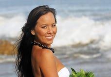 Polynesian Girl. Portrait of a beautiful young Polynesian woman Royalty Free Stock Photo