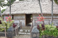 A Polynesian hut. Hawaii, Oahu Island Stock Photography