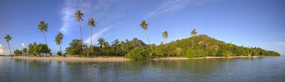 Polynesian landscape. In Maupiti Island Royalty Free Stock Photos