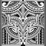 Polynesian ornament suitable for sleeve tattoo royalty free stock photo