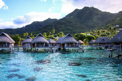 Polynesian overwater - Moorea Стоковые Изображения RF
