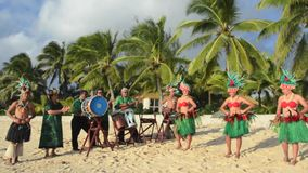 Polynesian Pacific Island Tahitian dance and music Royalty Free Stock Photo